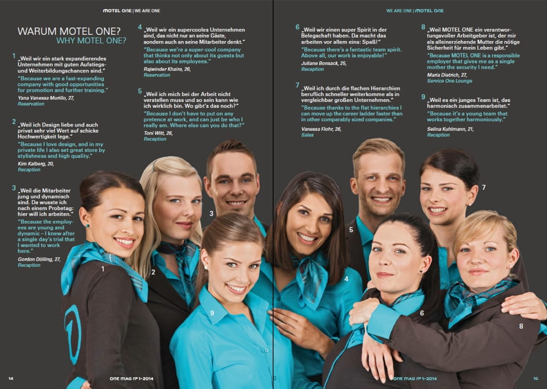Employer Branding bei Motel One - Mitarbeiter als Markenbotschafter im One Mag