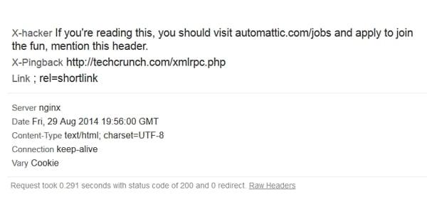 Techcrunch - Bewerberansprache per HTTP Header