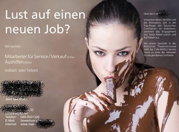 Café Maelu in München sucht Mitarbeiter für Service und Verkauf
