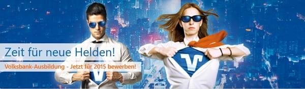 Zeit für neue Helden - Ausbildung bei der Volksbank Göppingen