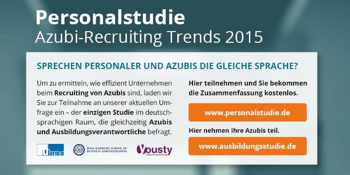 Hier klicken und an der Personalstudie 2015 teilnehmen!