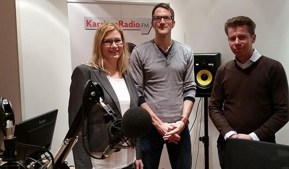 Heidrun Meder und Oliver Holkebrink von KarriereRadio.FM