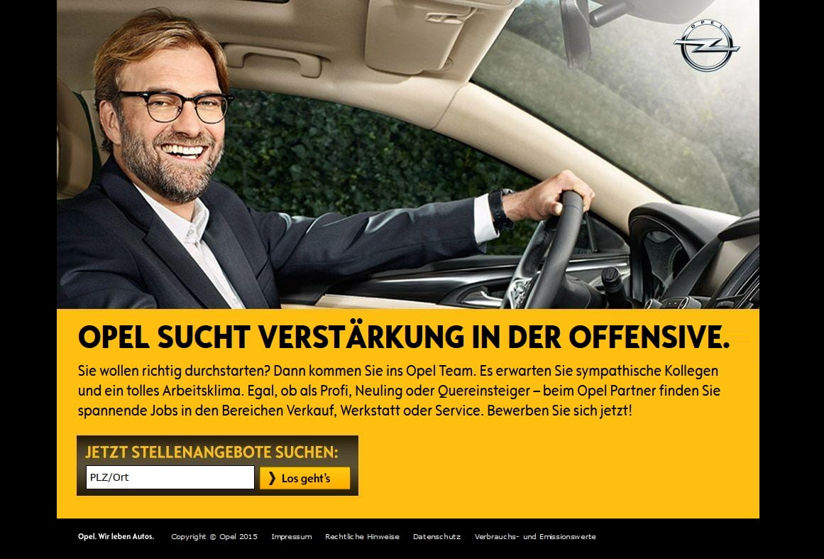 Opel sucht Verstärkung in der Offensive - Microsite der Opelhändler