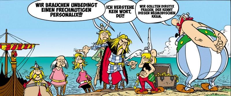Bewerbung als Frechmutiger Personalx - inspiriert von Asterix und Obelix
