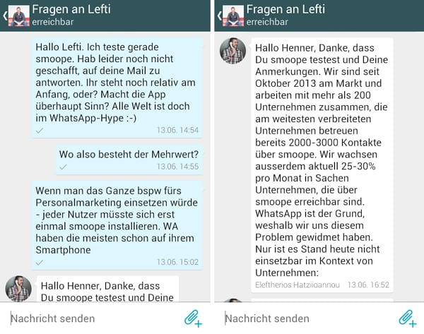 Chat via smoope - Mobile Messaging zahlt positiv auf Candidate Experience ein