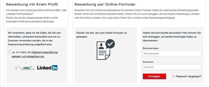 Bewerben mit einem Klick bei SEW-EURODRIVE