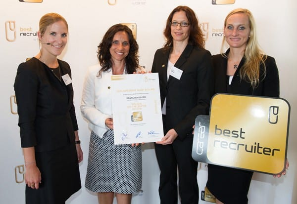 Verleihung des Best Recruiter Awards an SEW-EURODRIVE