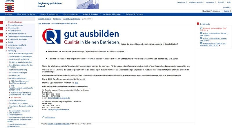 Website gutausbilden.de