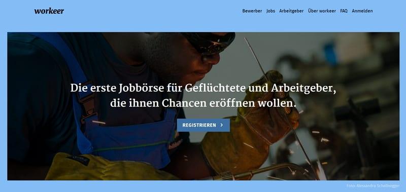 workeer - belebt mit seiner Jobboerse für Gefluechtete und Arbeitgeber den Arbeitsmarkt