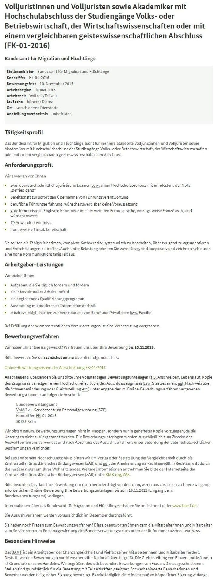 BAMF Geheimbericht zum Asyl-Skandal - WiWi-TReFF Forum