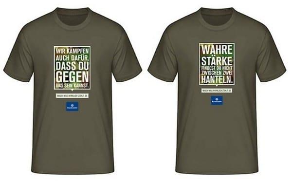 T-Shirts mit der neuen Bundeswehr-Kampagne