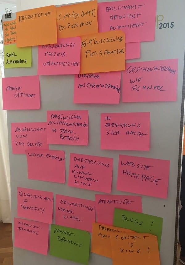 XING Barcamp Frankfurt - Session Arbeitgeberattraktivität und Recruiting