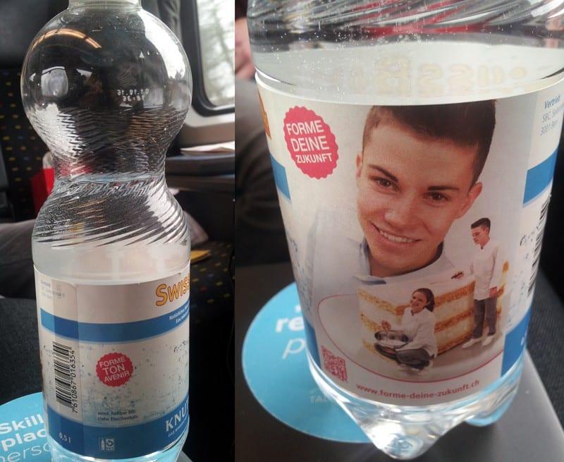 Personalmarketing to Go - Wasserflasche mit Lehrlingswerbung