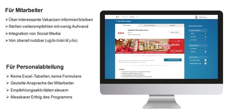 Vorteile digitaler Mitarbeiterempfehlungsprogramme am Beispiel Dr. Eckert