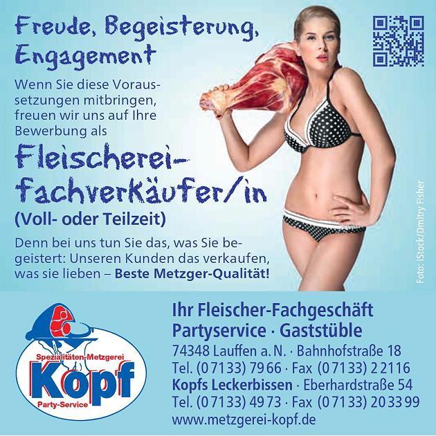 Sex im Personalmarketing - Bikinimädchen als Fleischfachverkäuferin