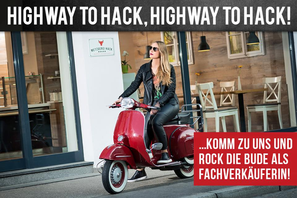 Highway to Hack - peinliche Personalwerbung bei Fleischerei Hack