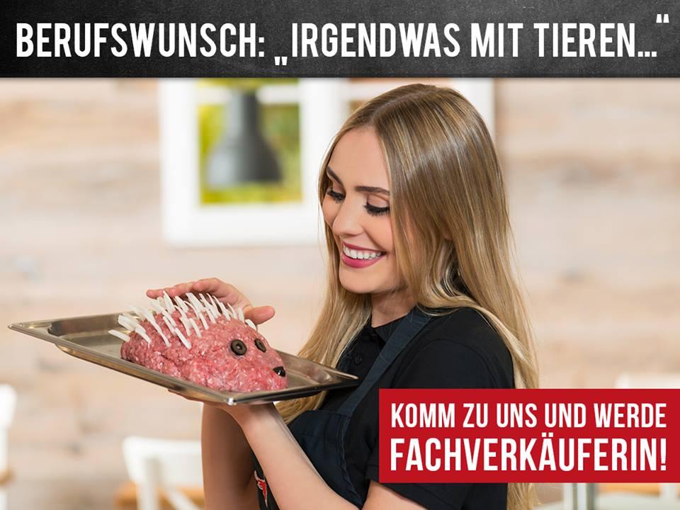Irgendwas mit Tieren - peinliche Personalwerbung der Fleischerei Hack aus Freising