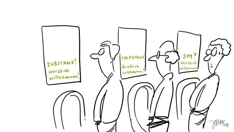 """""""Pee and watch"""" - Personalmarketing am stillen Örtchen - Copyright by Joonas.ch"""