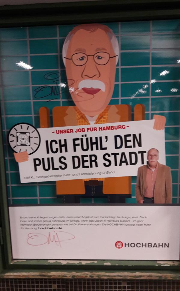 Personalwerbung in Hamburg: Rolf K. fühlt bei der Hochbahn den Puls der Stadt