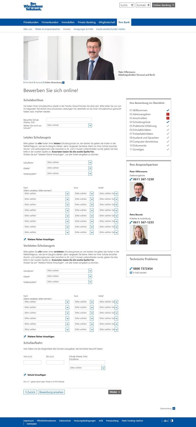 Auch Volksbanken setzen auf das E-Recruiting-Portal Mein Check in