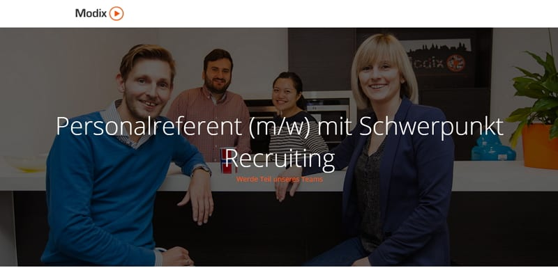 Modix sucht Personalreferent mit Schwerpunkt Recruiting in Koblenz