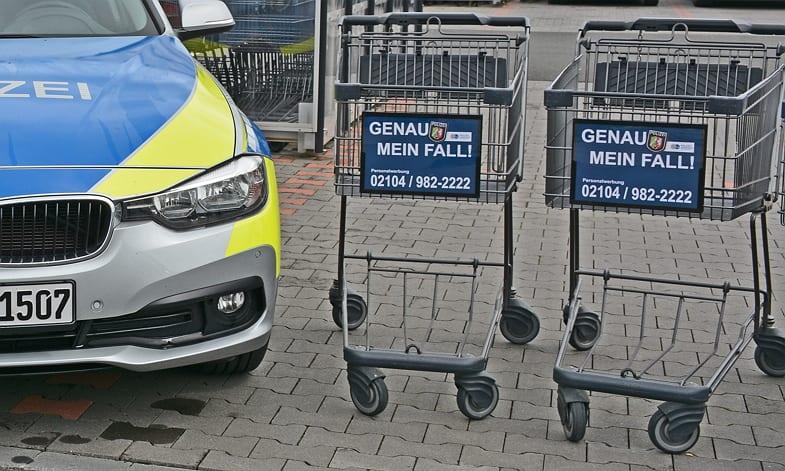 Personalwerbung mit Einkaufswagen - Die Polizei Mettmann macht's vor!