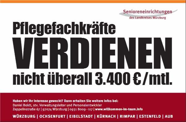 Diese Stellenanzeige der Senioreneinrichtugen Würzburg sorgt für Diskussion