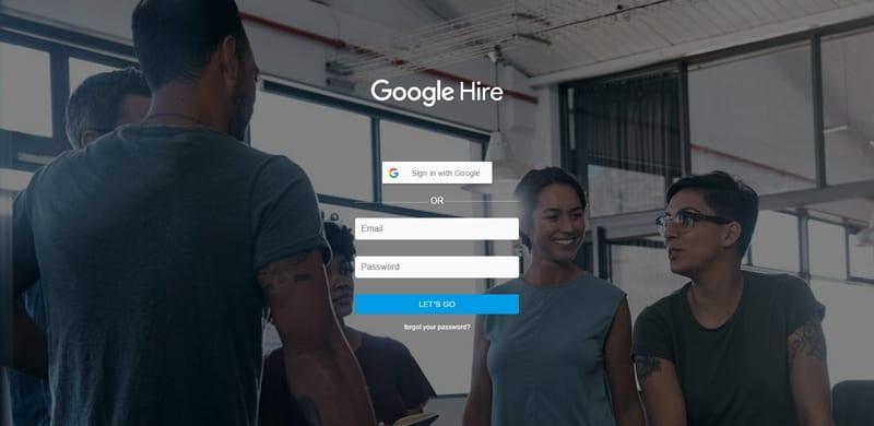 Google Hire - Anmeldung momentan nur mittels Einladung möglich