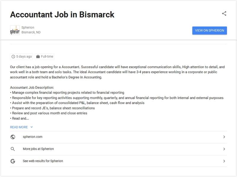 Google for Jobs - direkte Bewerbung noch nicht möglich