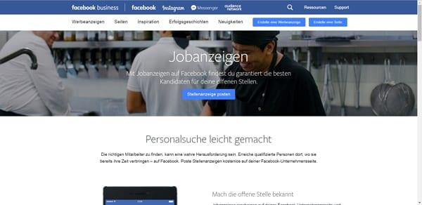 Jobs auf Facebook schalten - die Seite ist schon live