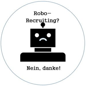 Robo-Recruiting - nein danke - Robot by jungsang from the Noun Project