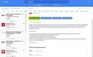 Google for Jobs - Sorgen Sie dafür, dass Sie an erster Stelle bei den Bewerbungsoptionen stehen