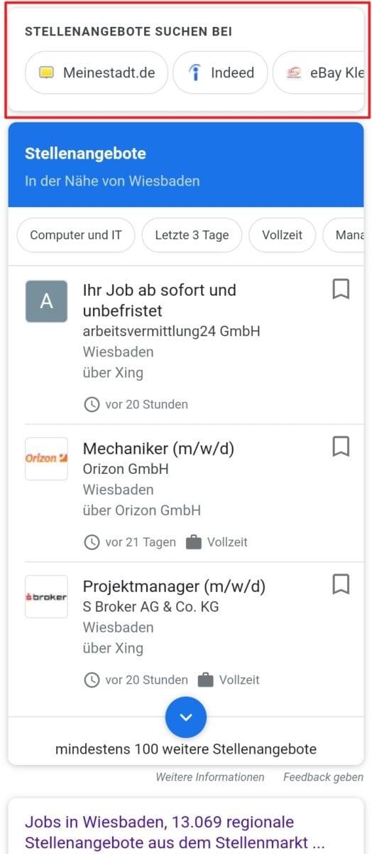 Google for Jobs _ Stellenangebote suchen bei....
