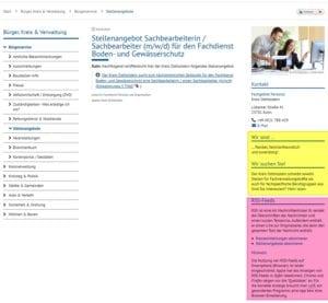 Mehr Infos zu RSS, als zum Arbeitgeber