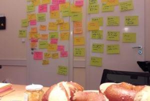 Jede Menge HRforFuture-Ideen wurden beim Personalerfrühstück gesammelt