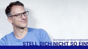 Stell dich nicht so ein - Titelbild meiner neuen Kolumne bei humanresourcesmanager.de