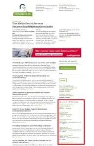 Prominente Platzierung Ihrer Personalmarketing-Jobs in der Marginalspalte