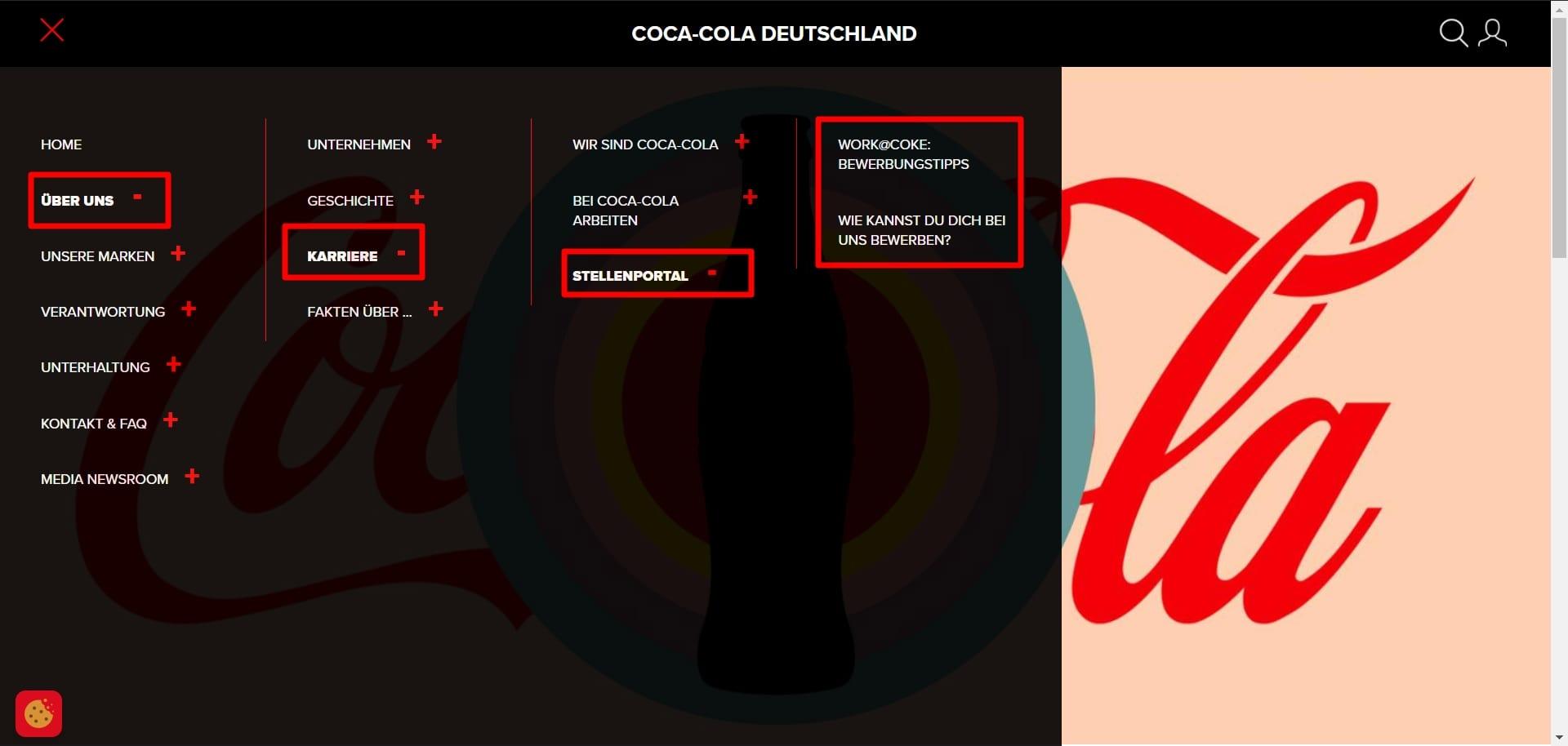 Der steinige Weg zur Bewerbung gleicht bei Coca-Cola einem Spießrutenlauf